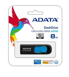 ADATA DashDrive-UV128-USB-3.0-Flash-Memory-8GB